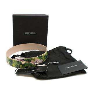 Dolce & Gabbana Floral Print Saffiano Bag Strap