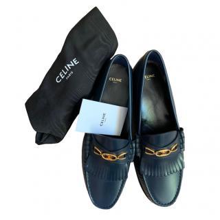 Celine Navy Calfskin Loafers