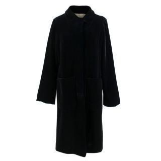 Katharine Hamnett Black Velvet Long Coat