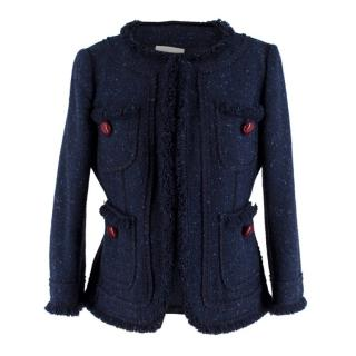 Moschino Cheap & Chic Navy Boucle Tweed