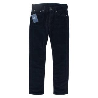 Hackett Navy Blue Corduroy Kid's Trousers