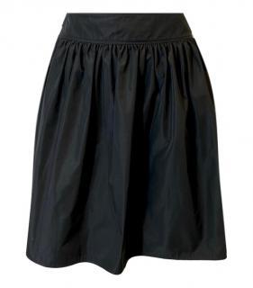 Burberry Black Pleated Mini Skirt