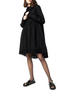 Simone Rocha Black Cotton Oversize Shirt Dress