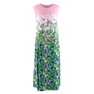 Marc Jacobs Floral Sleeveless Midi Dress
