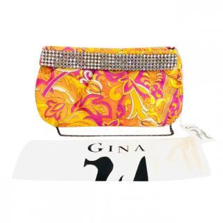 Gina Printed Crystal Embellished Bag