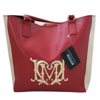 Love Moschino Two-Tone Leather Tote