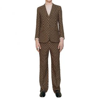 Gucci Wicker Print Tailored Pants
