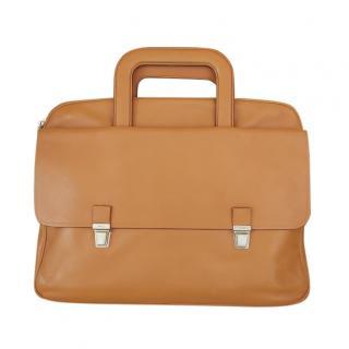 Prada Camel Leather Briefcase