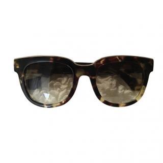 Balenciaga Classic Tortoiseshell Sunglasses