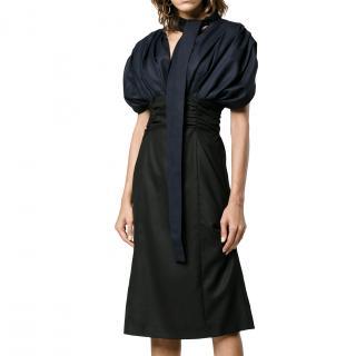 Jacquemus La RoBe Madame Navy & Black Dress