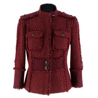 Tory Burch Kington Tweed Red Jacket