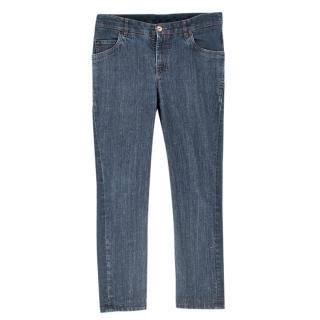 Brunello Cucinelli Blue Straight Leg Jeans