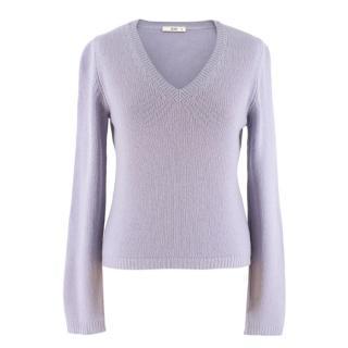 Prada Lilac V-Neck Wool Blend Jumper