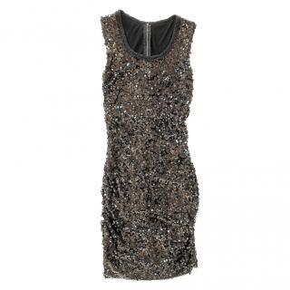 Dolce & Gabbana Sleeveless Sequin Embellished Dress