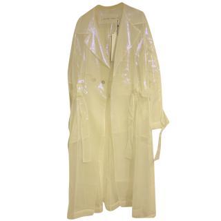 A Tentative Atelier Iridescent Organza Coat.