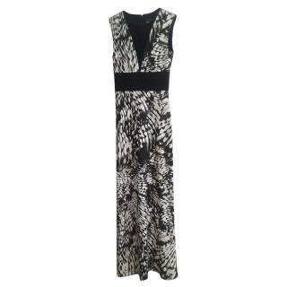 Just Cavalli Black & White Printed Gown