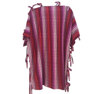 Marco de Vincenzo pink striped lightweight and oversized tunic top