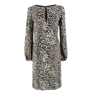 Roberto Cavalli Leopard Face Print Dress