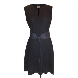 Roksanda Ilincic navy wool crepe dress