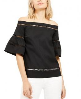 Michael Michael Kors off-the-shoulder crochet-trimmed Top
