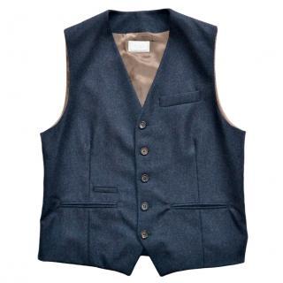 Brunello Cucinelli navy wool waistcoat