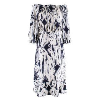 Essentiel Antwerp Tie Dye Bardot Dress