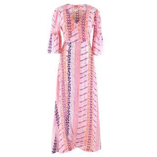 Seraphina Patterned Maxi Wrap Dress
