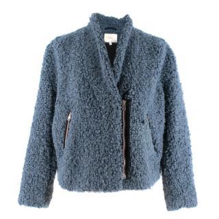 Iro Daney Blue Loop Textured Jacket