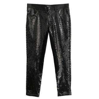 Junya Watanabe Stretch Sequin Pants