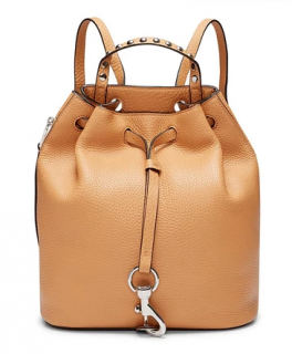 Rebecca Minkoff Tan Grained Leather Studded Backpack