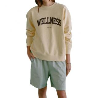 Sporty & Rich Wellness Cream Oversize Jumper