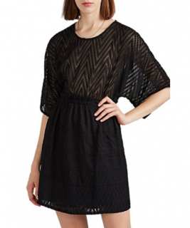 IRO Black Dotile Mini Dress