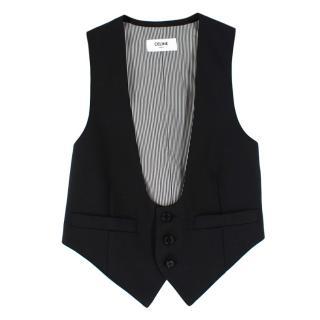 Celine Black Wool Waistcoat