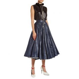 Calvin Klein 205W39NYC Ruffle-trimmed Drawstring-neck Top
