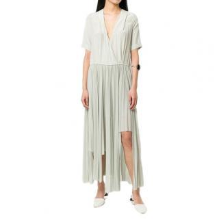 Erica Cavallini Asymmetric Pleated Silk Dress