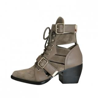 Chloe Motty Cut-Out Rylee Ankle Boots