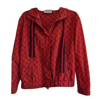 Gucci Red GG Skull Print Jacket