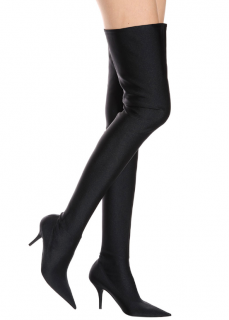 Balenciaga Black Over The Knee Knife Boots