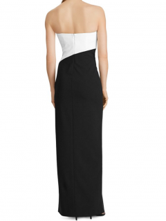 Lauren Ralph Lauren colour block gown