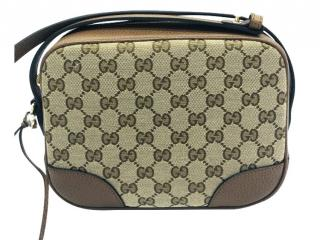 Gucci bieige canvas and leather BREE shoulder/crossbody bag