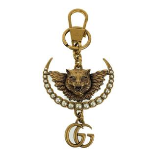 Gucci Marmont Feline Faux Pearl Bag Charm