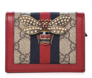 Gucci GG Supreme Queen Margaret Card Case