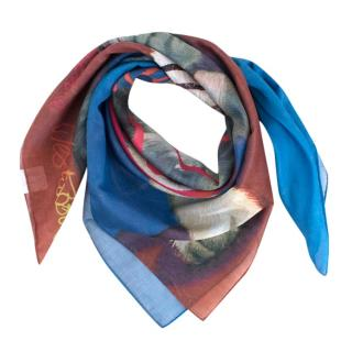 Vivienne Westwood Blue Kitten Climate Economic Scarf