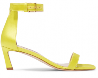 Stuart Weitzman Yellow SquareNudist Sandals
