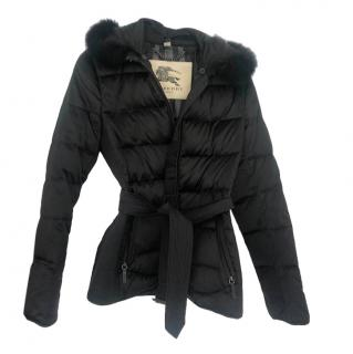 Burberry Black Fur Lined Puffer Jacket