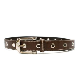 Bally Brown Leather Belt