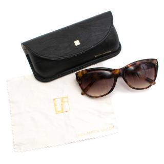 Linda Farrow 597 C3 Tortoise Shell D-Frame Sunglasses