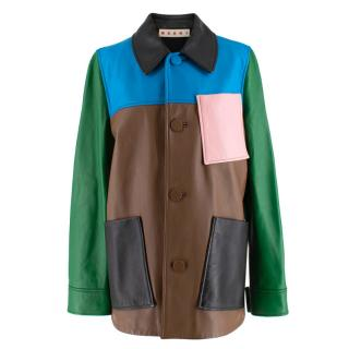 Marni Soft Leather Patchwork Jacket