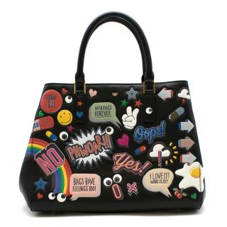 Anya Hindmarch Ebury Small All Over Wink Sticker Bag