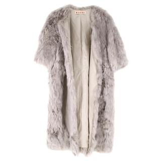 Marni Soft Grey Alpaca Fur Coat